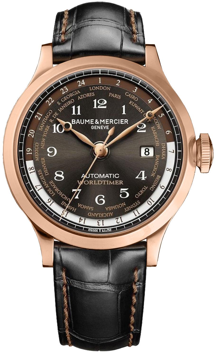 Baume & Mercier Capeland Brown Dial Men's Automatic Watch 10136