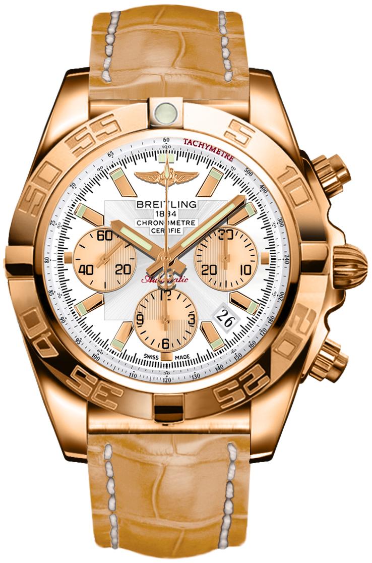 Breitling Chronomat 44 Silver Dial Men's Watch HB011012/G687-745P