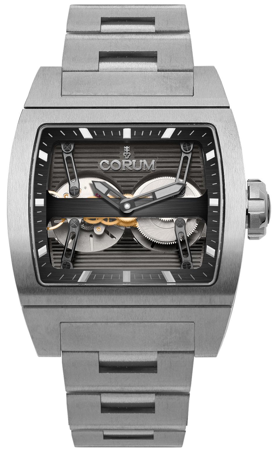 Corum Ti-Bridge Dual Winder Titanium Men's Watch 207.201.04/V250 0000