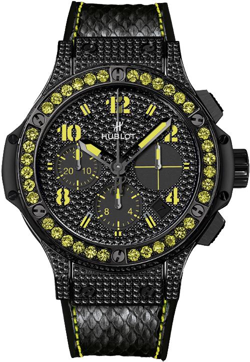 Hublot Big Bang Black Fluo Diamond Black Dial Women's Watch 341.SV.9090.PR.0911