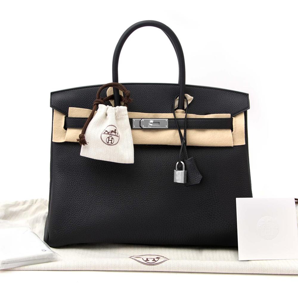New Hermes Birkin Bag 35 Togo Black Women's Handbag
