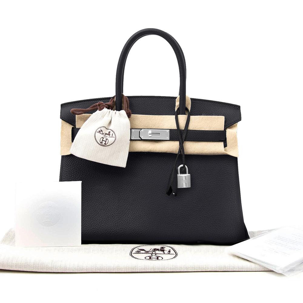 New Women's Hermes Birkin Bag 30 Togo Black