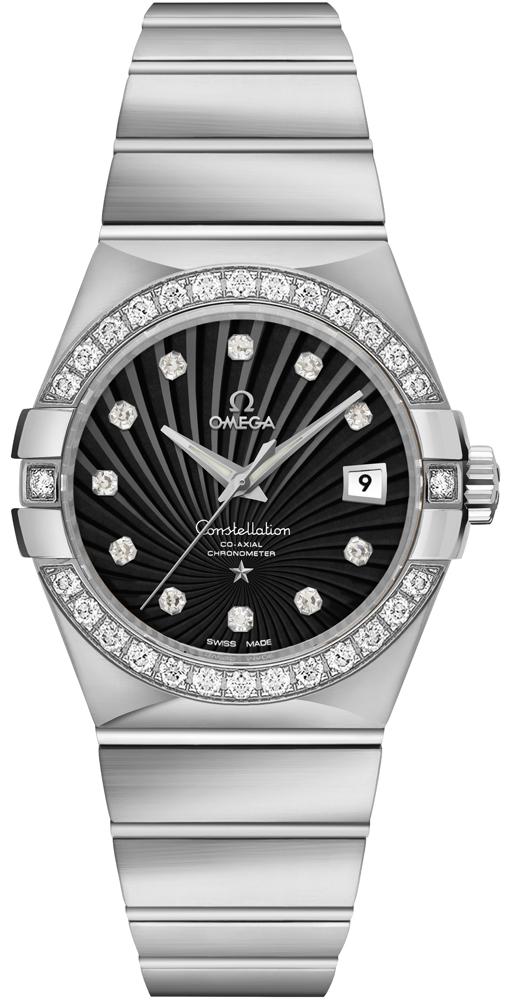 Omega Constellation 18k White Gold Luxury Women's Watch 123.55.31.20.51.001