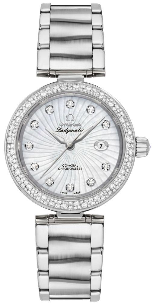 Omega De Ville Ladymatic 34mm Automatic Chronometer Women's Watch 425.35.34.20.55.001