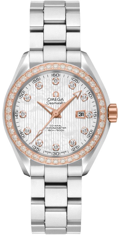 Omega Seamaster Aqua Terra Diamond Women's Luxury Watch 231.25.34.20.55.003