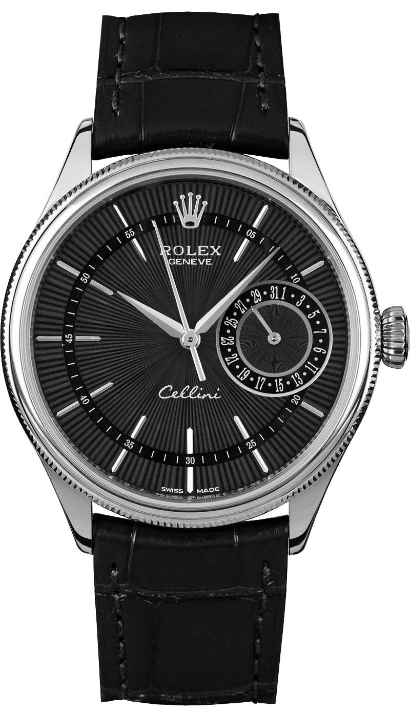 Rolex Cellini Date Black Dial Men's Luxury Watch 50519