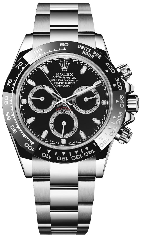 Rolex Cosmograph Daytona Men's Black Dial Watch 116500LN