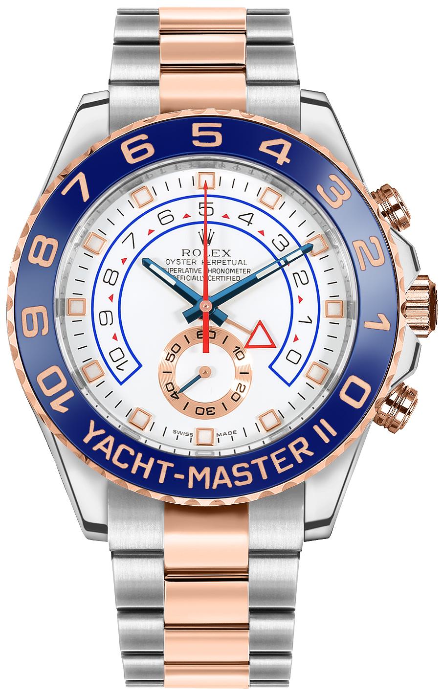 Rolex Yacht-Master II Oystersteel & Everose Gold 44mm Men's Watch 116681