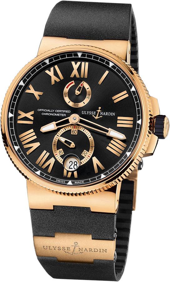 Ulysse Nardin Marine Chronometer Rose Gold Men's Watch 1186-122-3/42