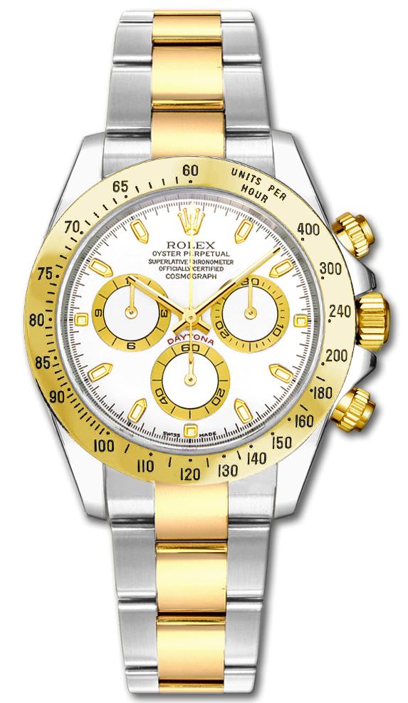 Rolex Cosmograph Daytona White Dial Men's Watch 116523