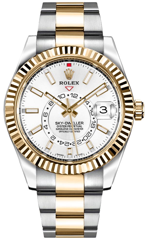 Rolex Sky-Dweller White Dial Men's Watch 326933