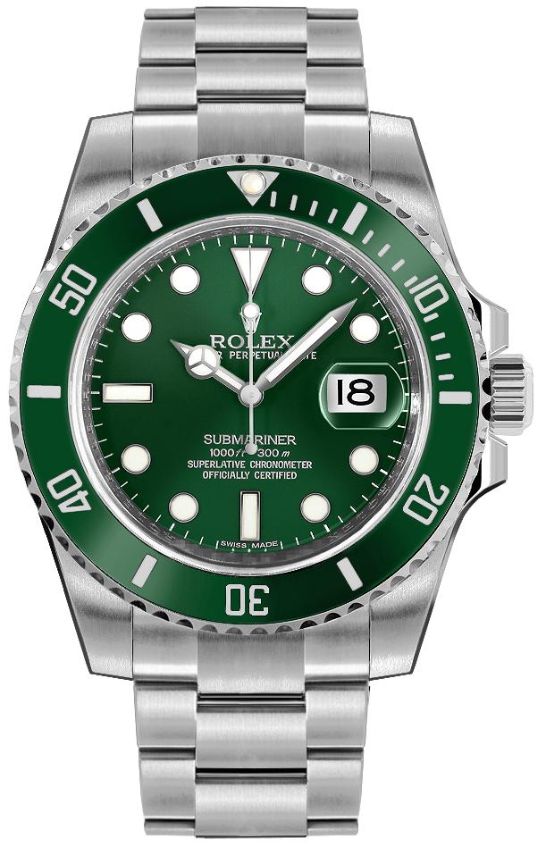 Rolex Submariner Date Green Dial Men's Watch 116610LV