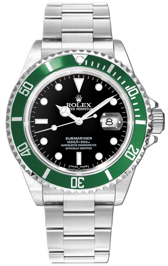 Rolex Submariner Date Kermit Black Dial Men's Watch 16610