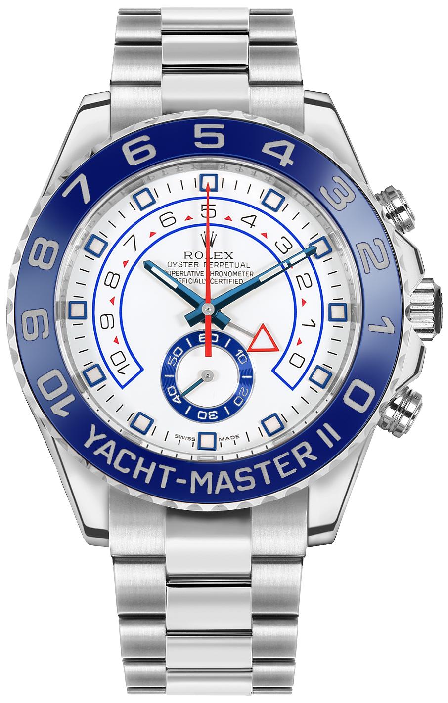 Rolex Yacht-Master II White Dial Men's Luxury Watch 116680