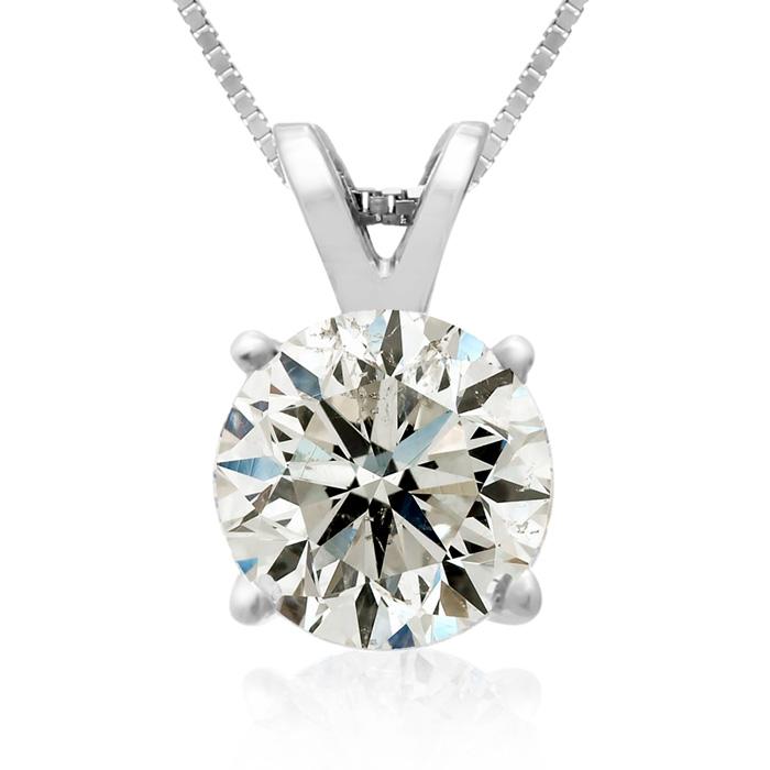 2 Carat 14k White Gold Diamond Pendant Necklace, 2 Stars, , 18 Inch Chain by SuperJeweler