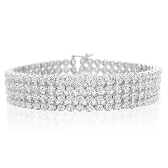 10.60 Carat Important Diamond Bracelet in 14K White Gold (31 g), , 7 Inch by SuperJeweler