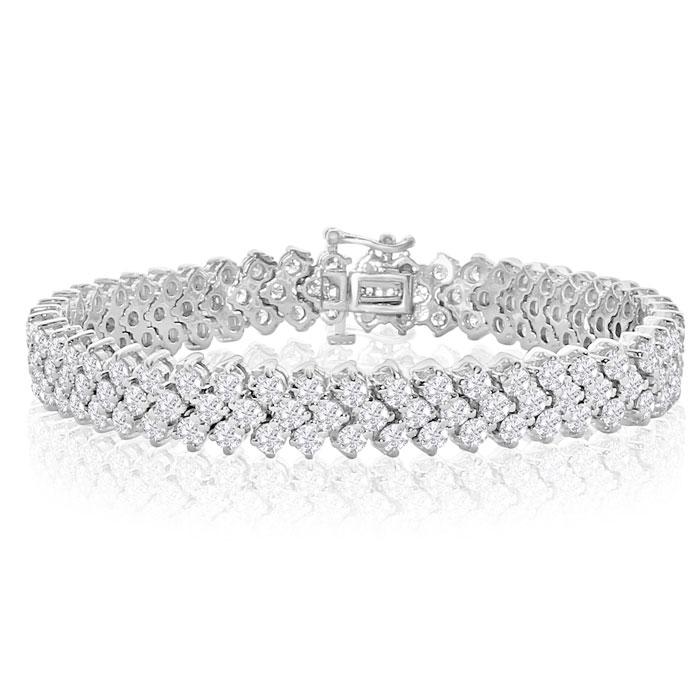 14Kwg 12 Carat Diamond White Gold Bracelet, , 7 Inch by SuperJeweler