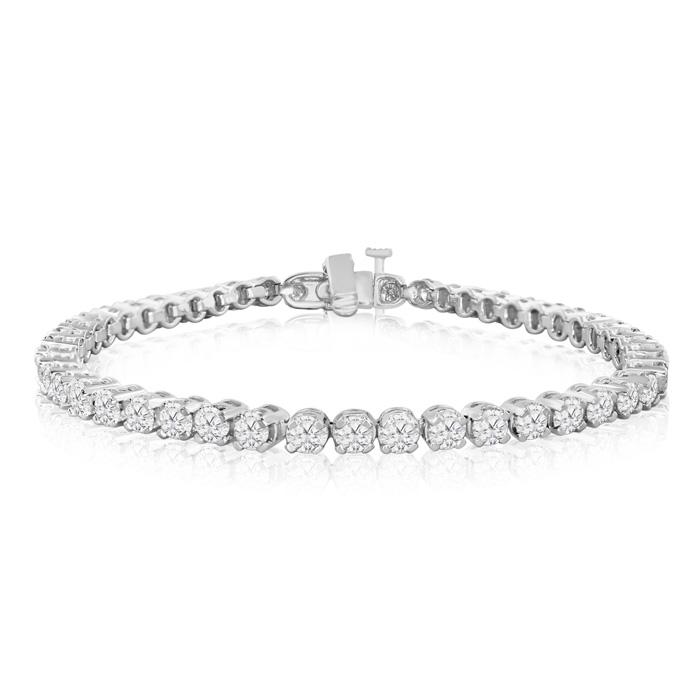 8 Inch, 5 3/4 Carat Diamond Tennis Bracelet in 14K White Gold (15.2 g),  by SuperJeweler