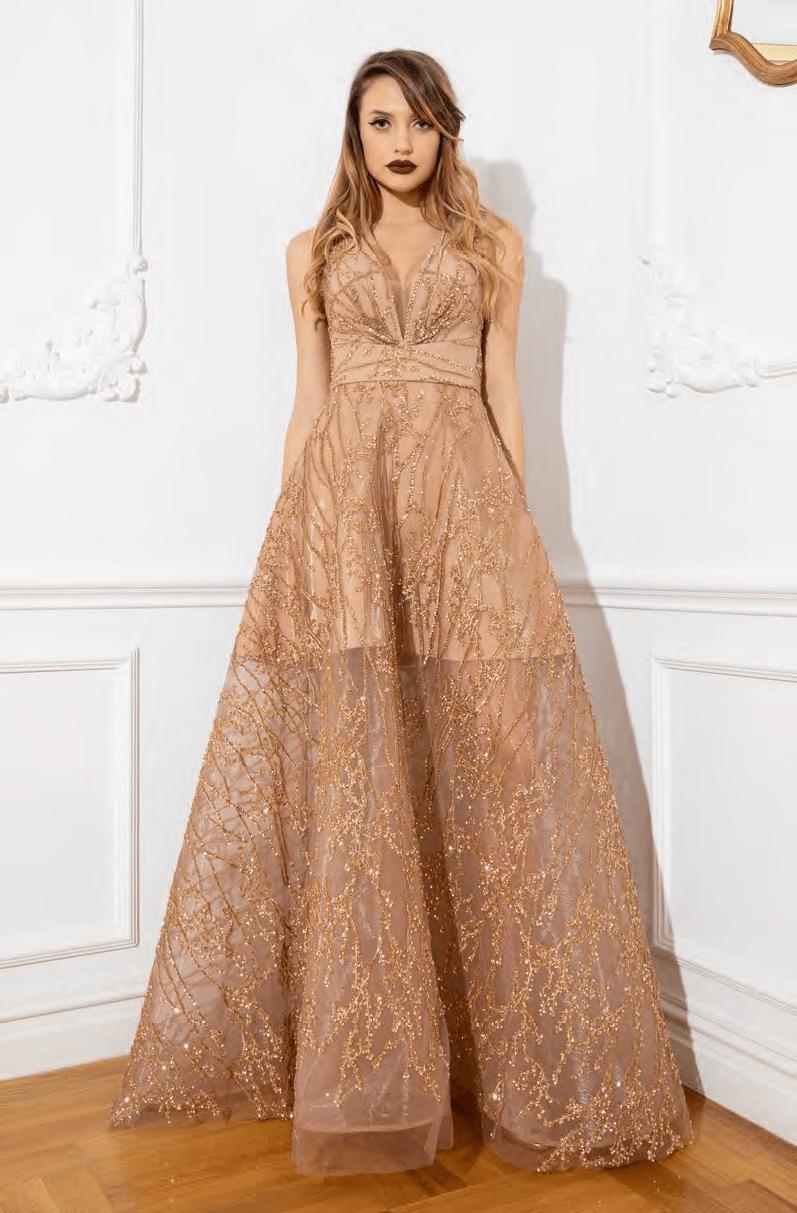 Cristallini - SKA924 Sequin Embellished A-Line Dress