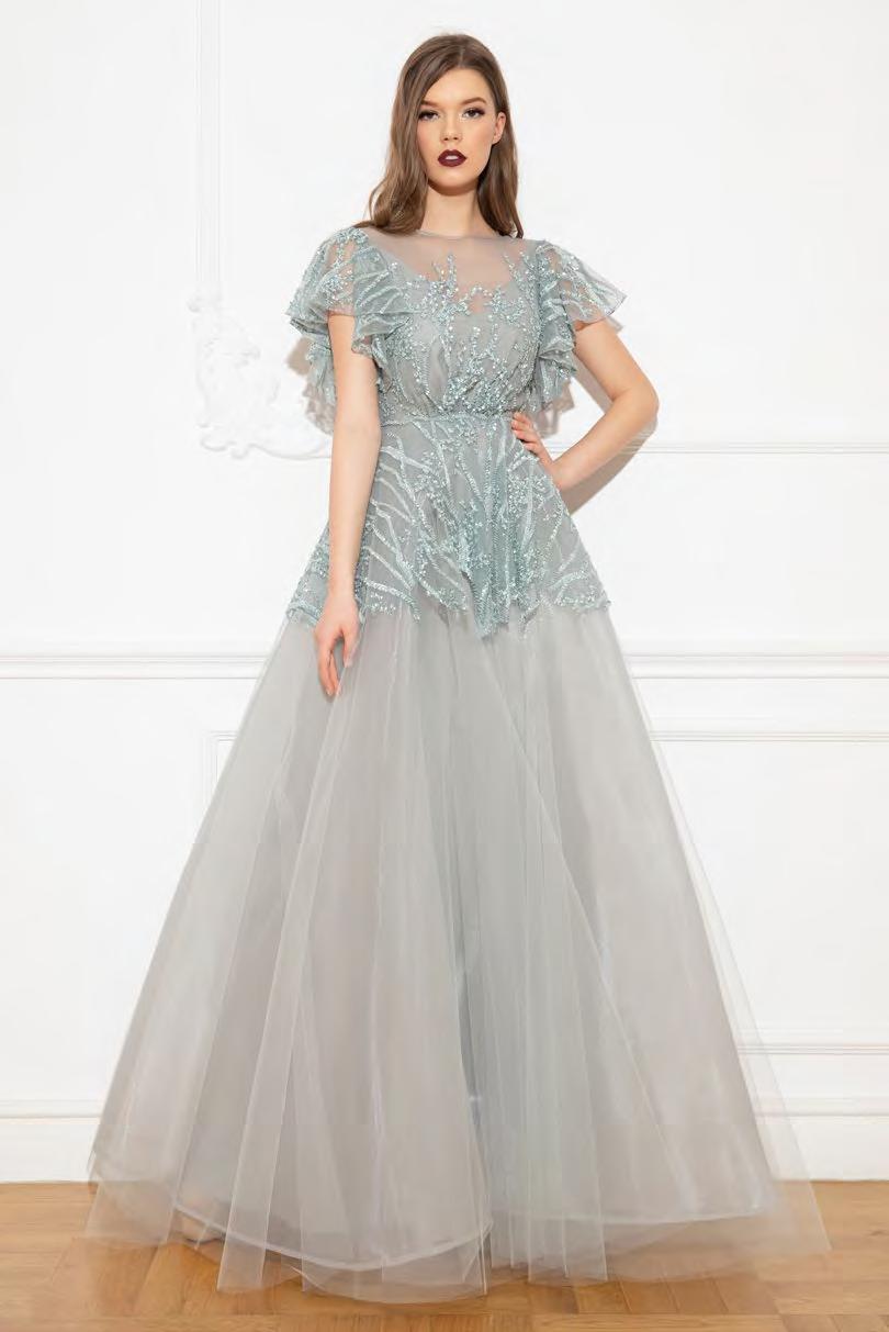 Cristallini - SKA948 Sequin Embellished Jewel Ballgown