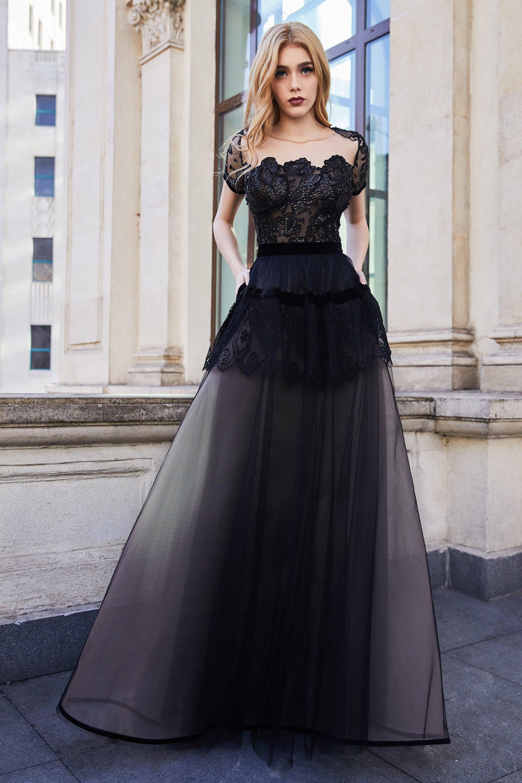 Cristallini - SKA970 Embellished Illusion Jewel Dress