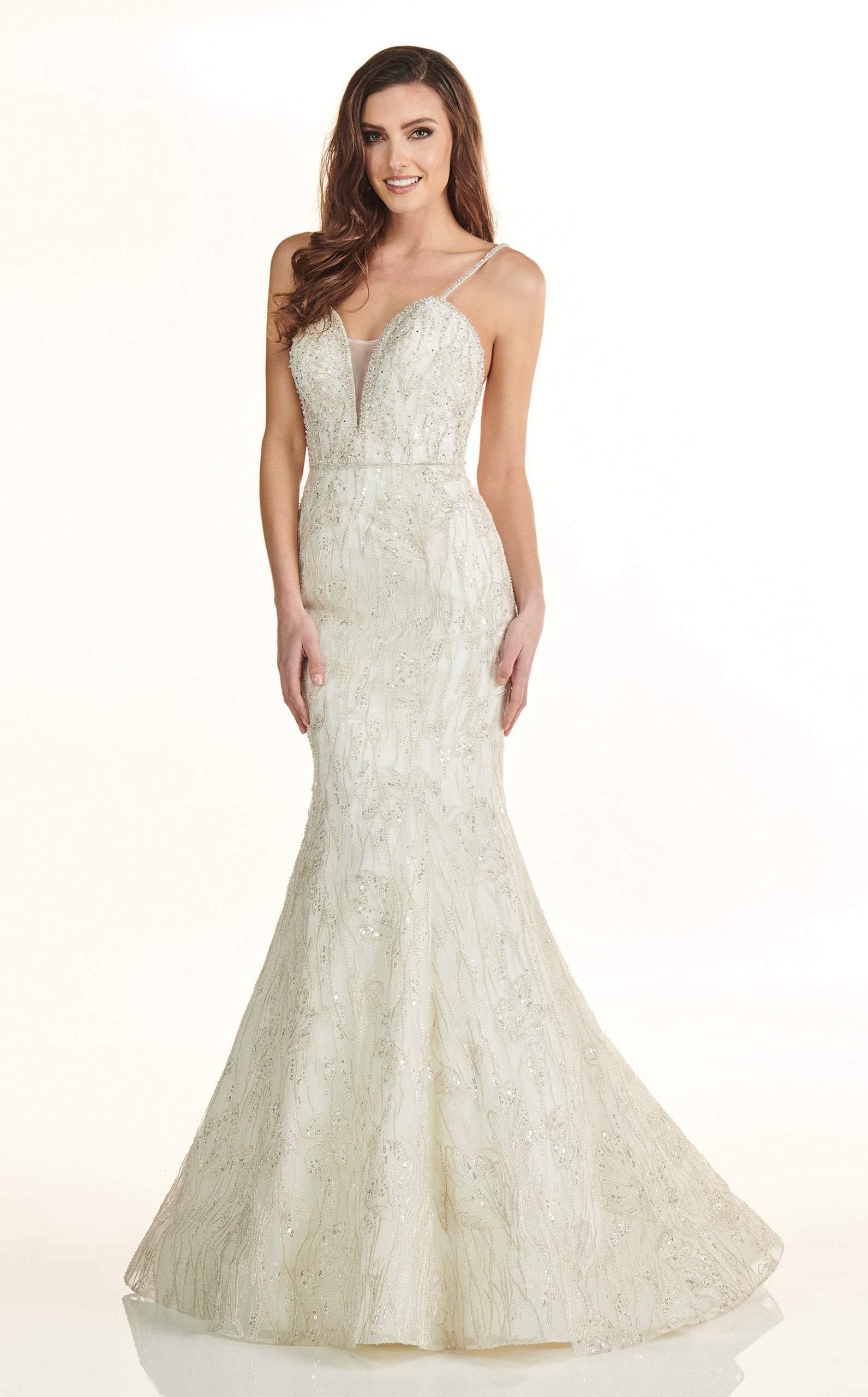 Lo'Adoro by Rachel Allan - M743 Bedazzled Deep Sweetheart Mermaid Gown