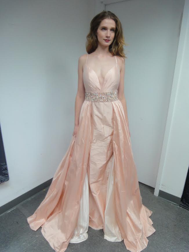 Jovani - 51436 Silky Sleeveless Beaded Gown with Overskirt