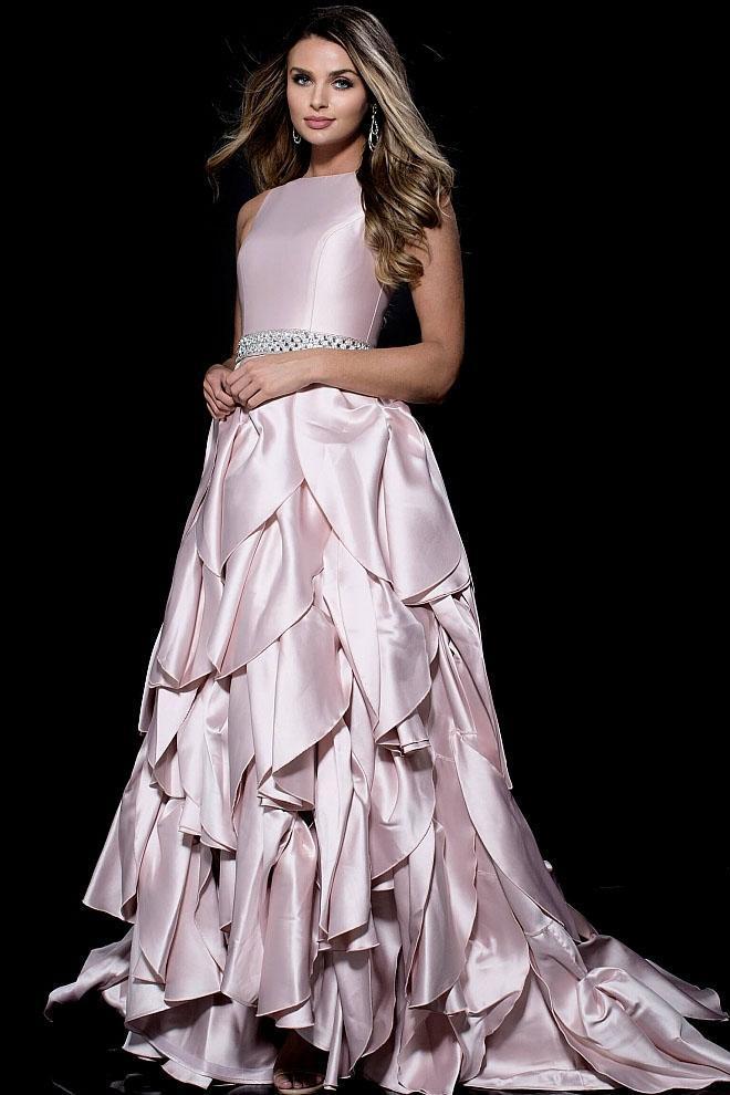 Jovani - 51607 Petal Inspired Tiered Jewel Ballgown