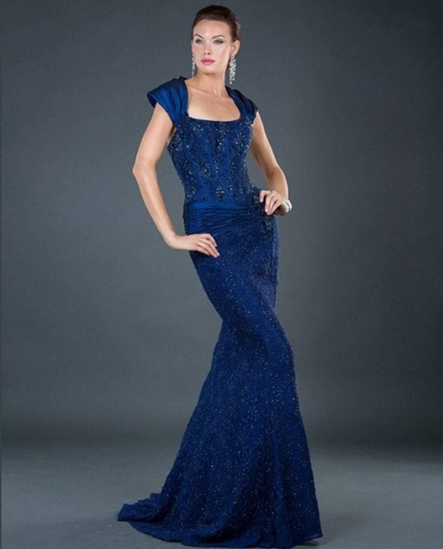 Jovani - 5470 Strapless Corset Bodice Beaded Mermaid Gown