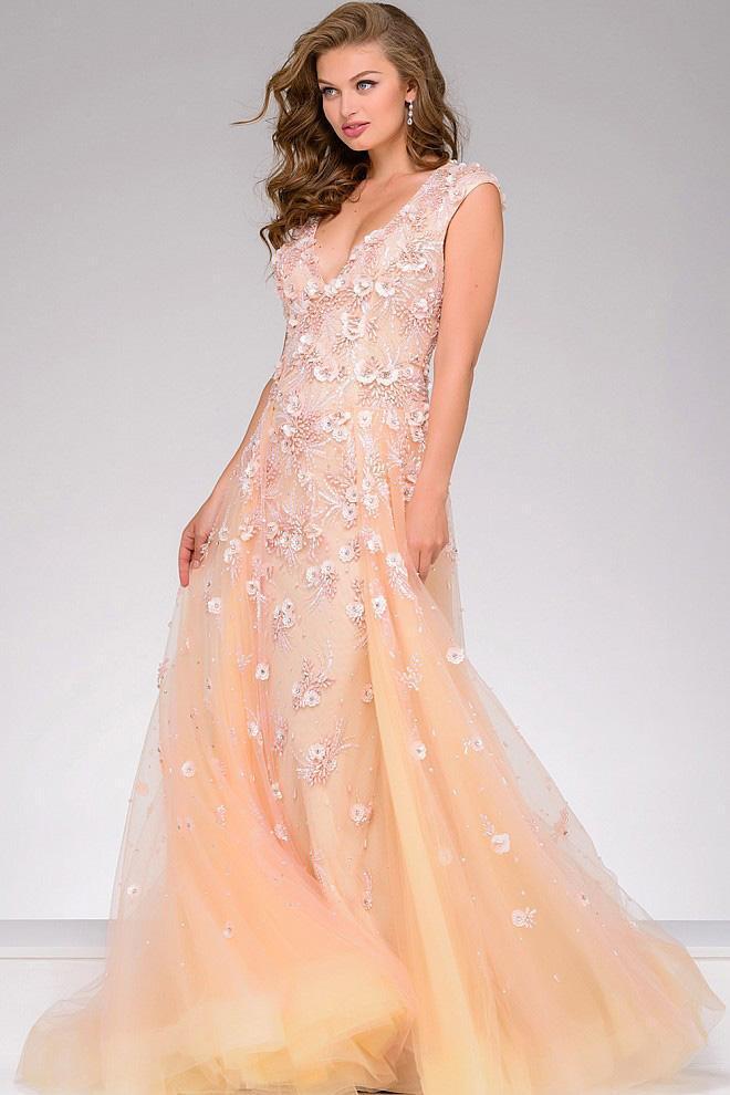 Jovani - Lace Applique Sleeveless Pageant Dress 45825
