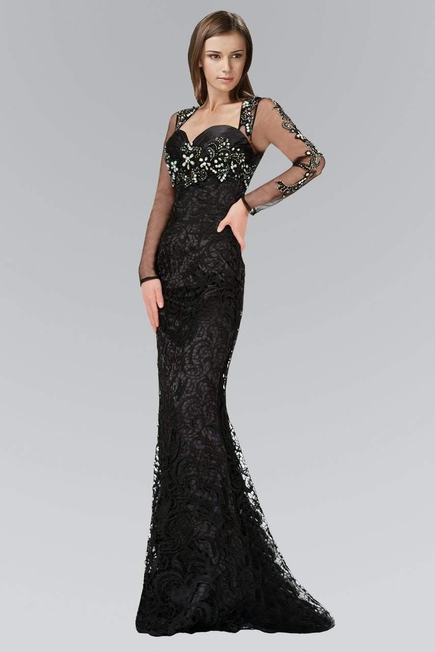 Elizabeth K - GL2101 Embellished Sweetheart Dress