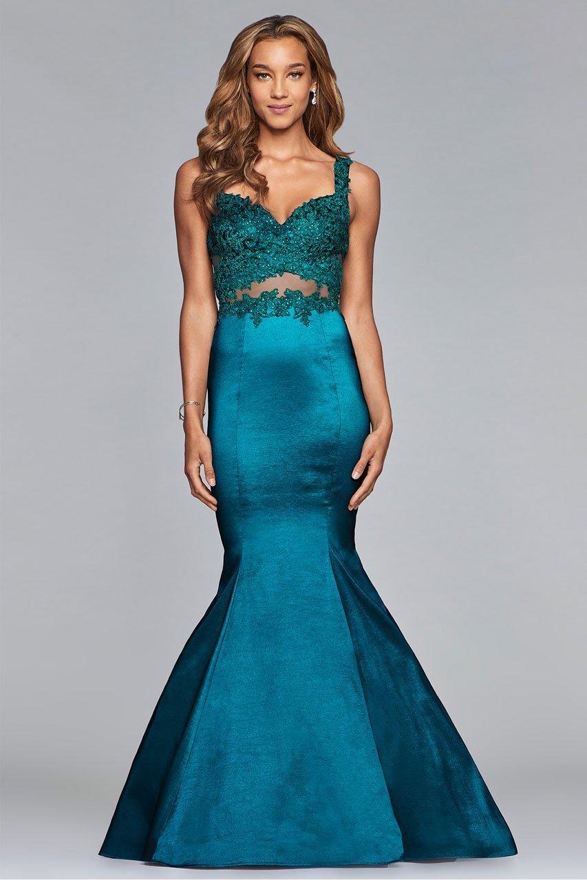 Faviana - 10081 Lace Sweetheart Mermaid Gown