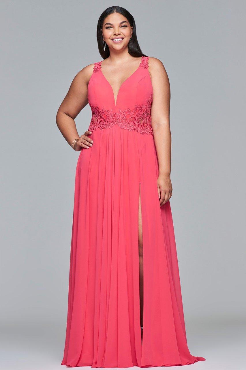 Faviana - 9433 Sleeveless V-neck A-line Dress