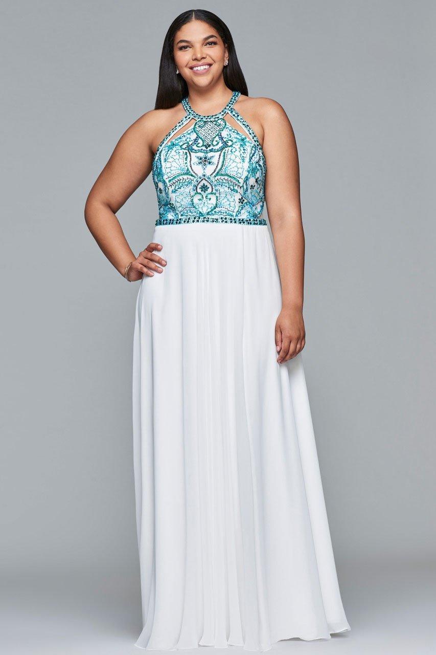 Faviana - 9434 Beaded Halter A-line Dress