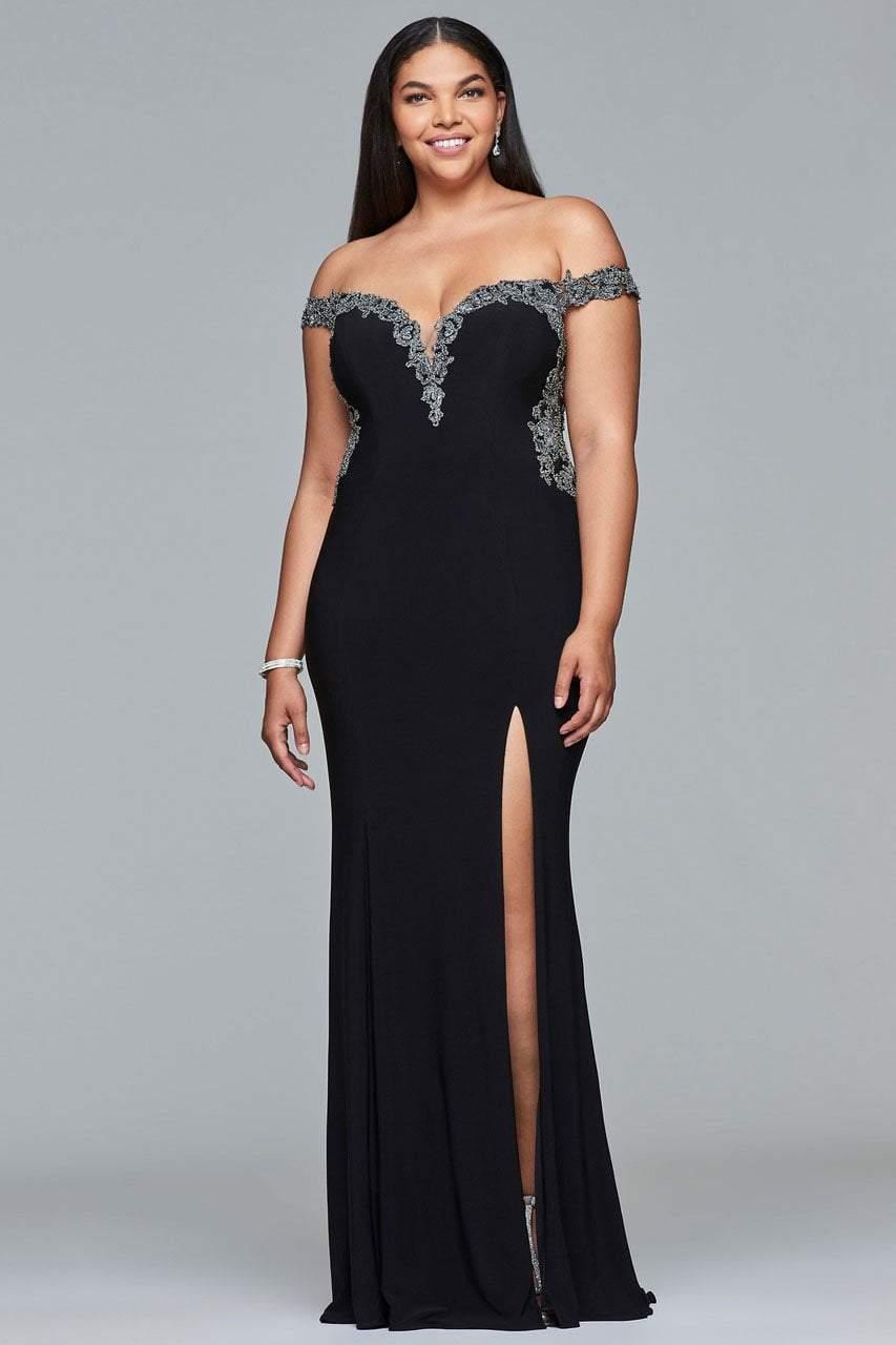 Faviana - 9437 Off Shoulder Sheath Dress