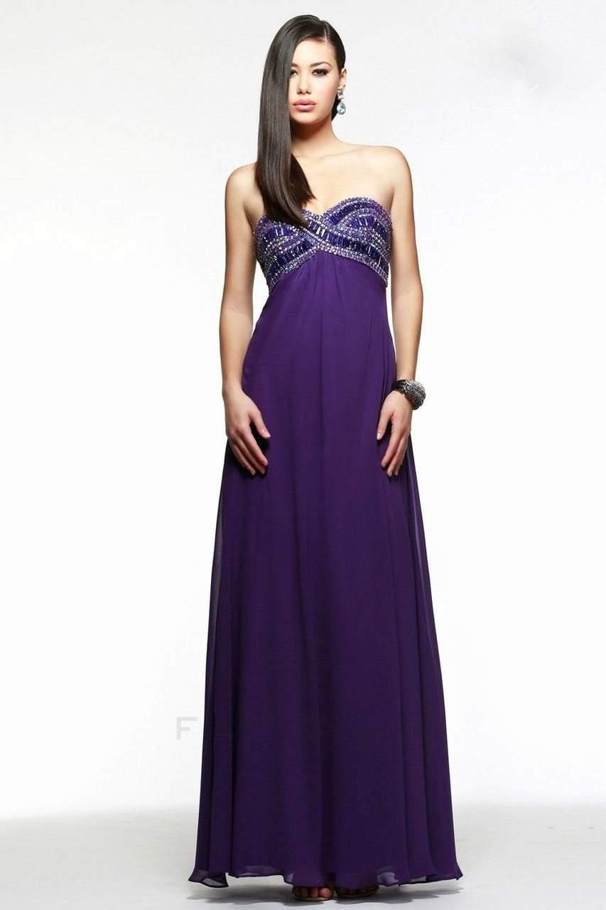 Faviana - Nice Strapless Empire Chiffon Dress 7553