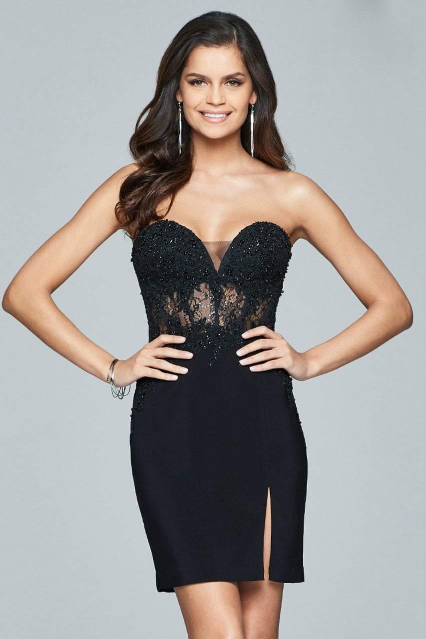 Faviana - Strapless Beaded Cocktail Dress s8074