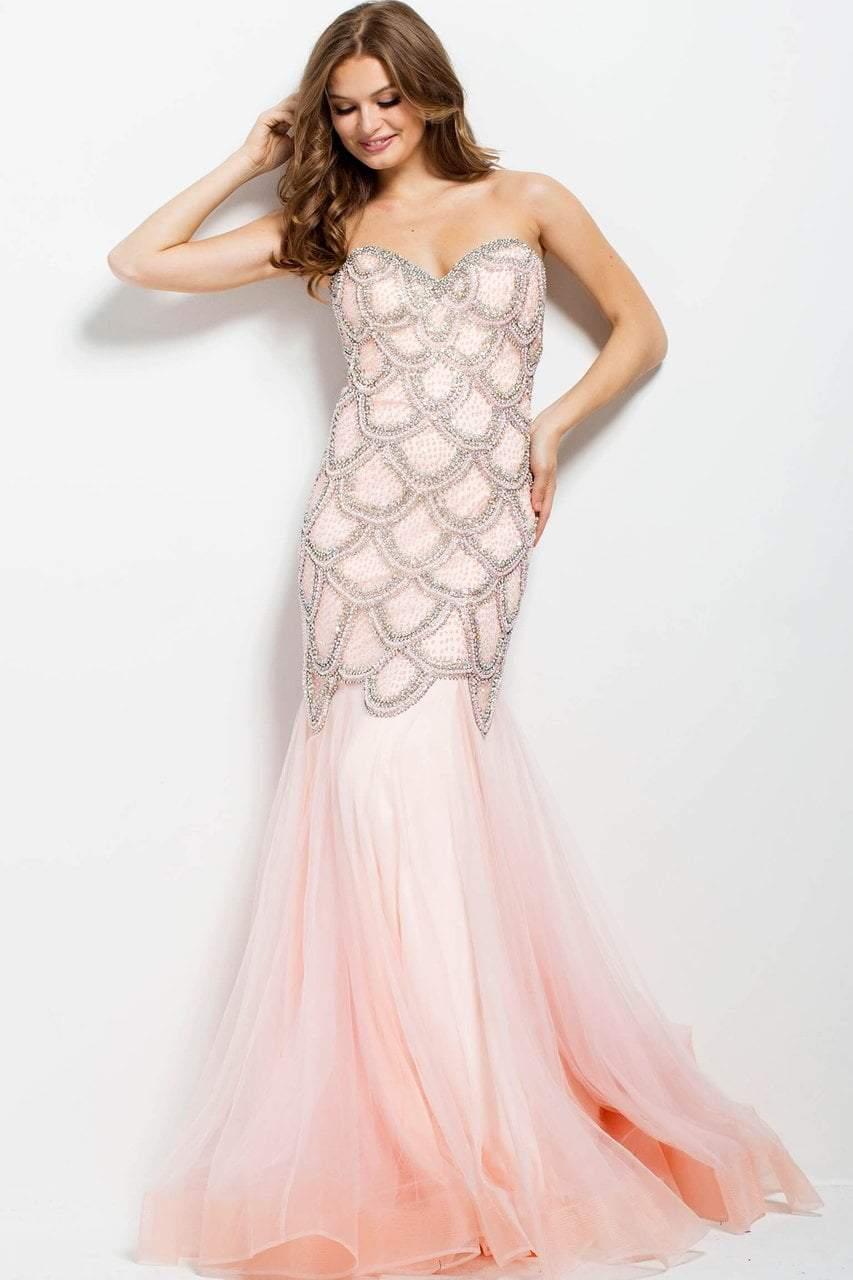 Jovani - 35205 Scalloped Beaded Sweetheart Dress