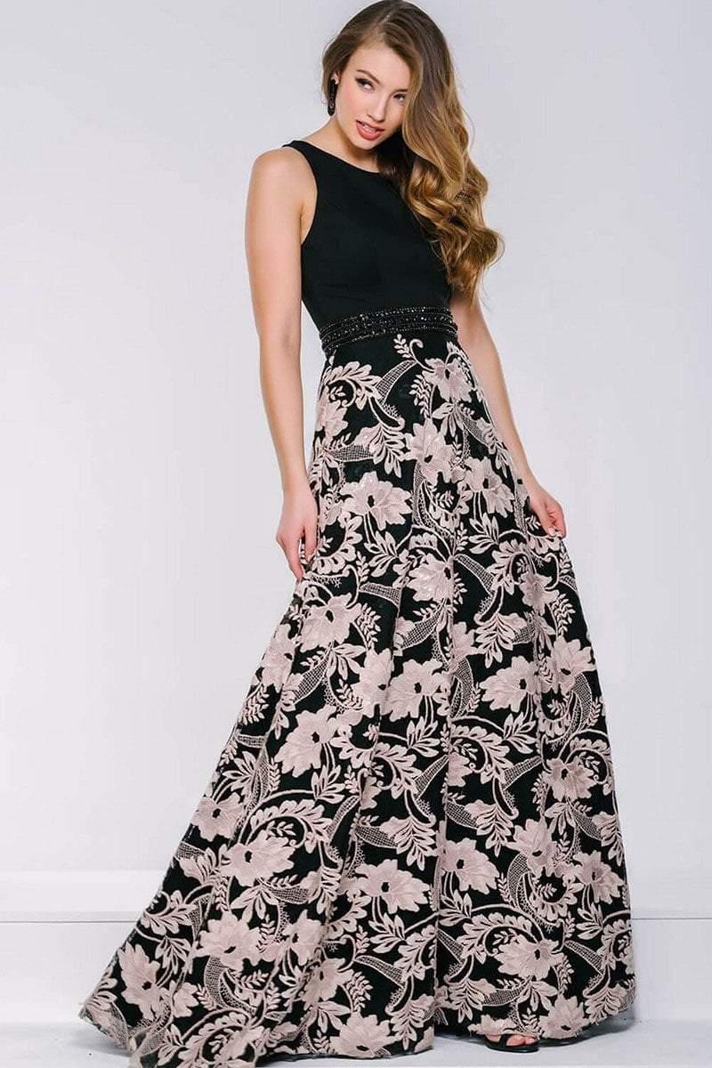 Jovani - 39206 Floral Jewel A-line Dress