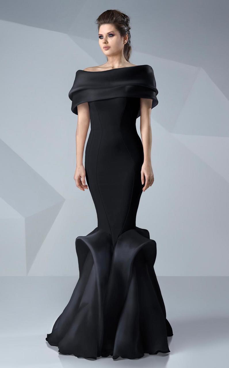MNM Couture - Sleek Off-Shoulder Mermaid Dress G0620