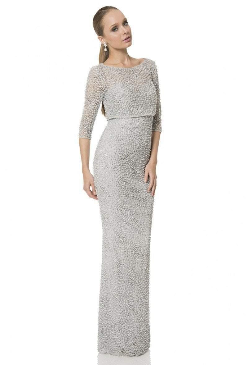 Terani Couture - 1611M0630A Embellished Bateau Sheath Dress