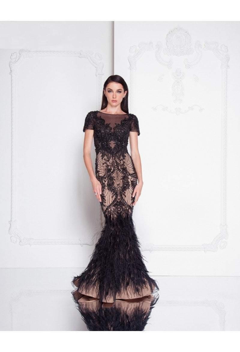 Terani Couture - 1811GL6428 Embellished Illusion Bateau Mermaid Dress