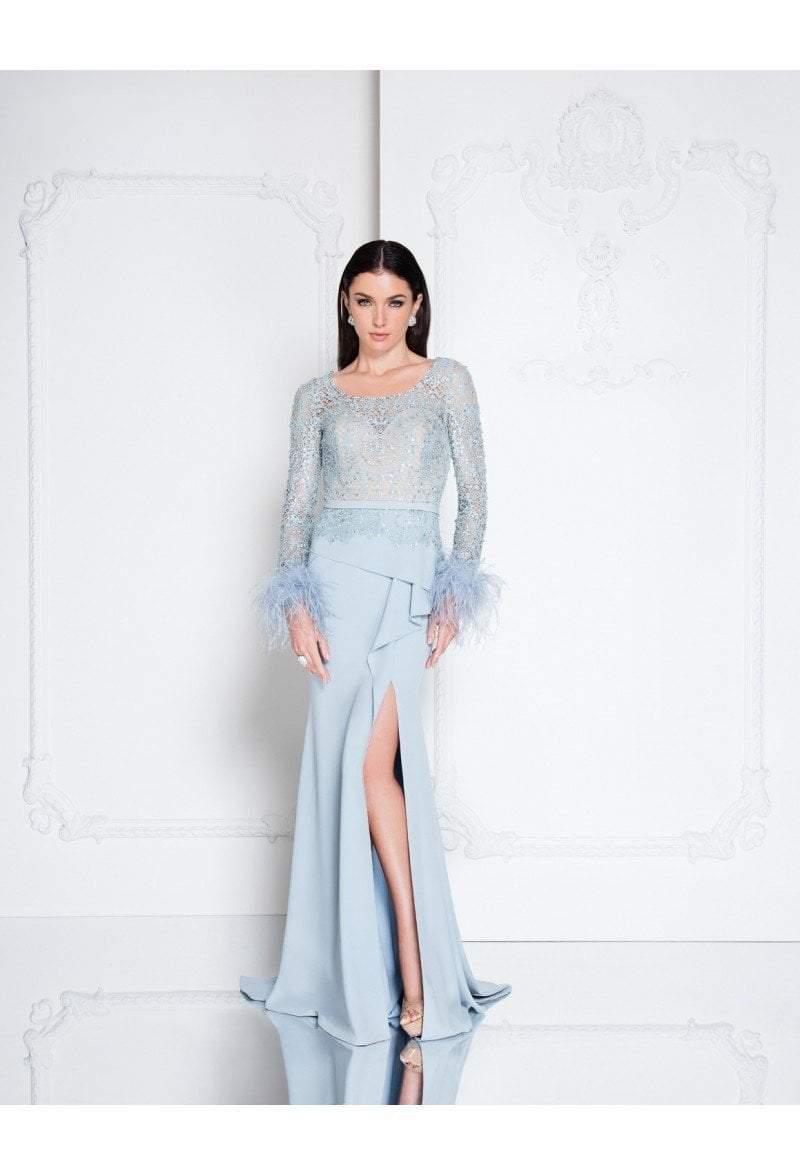 Terani Couture - 1811M6568 Embellished Long Sleeve Sheath Dress