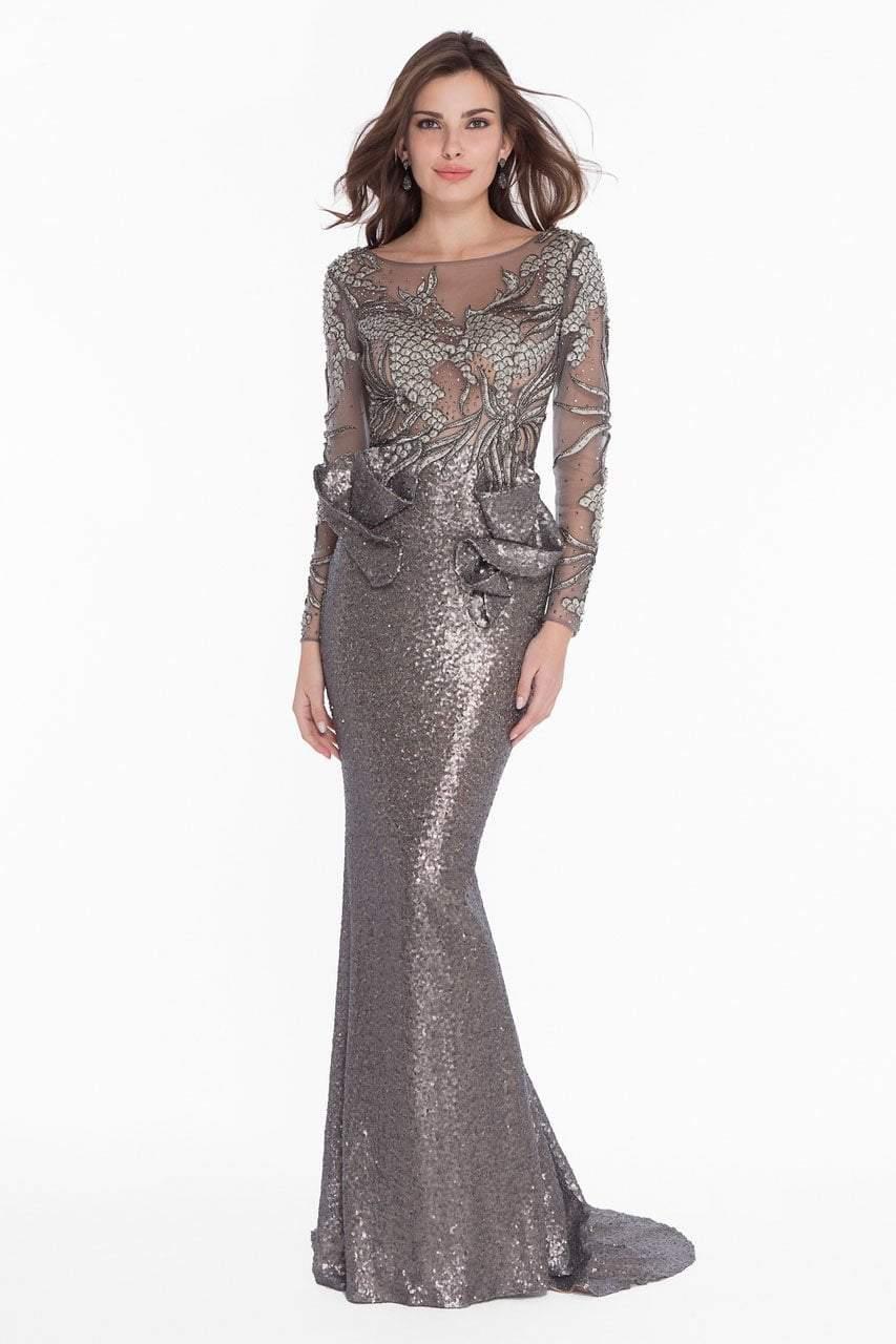 Terani Couture - 1821GL7402 Embroidered Illusion Sequin Ornate Gown