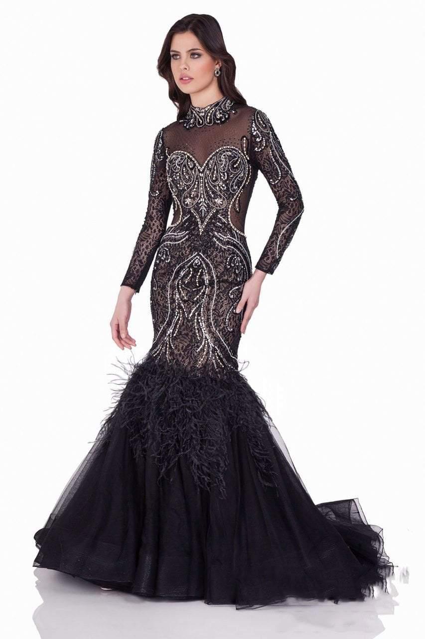 Terani Couture - Ravishing Beaded High Neck Mermaid Gown 1621GL1912