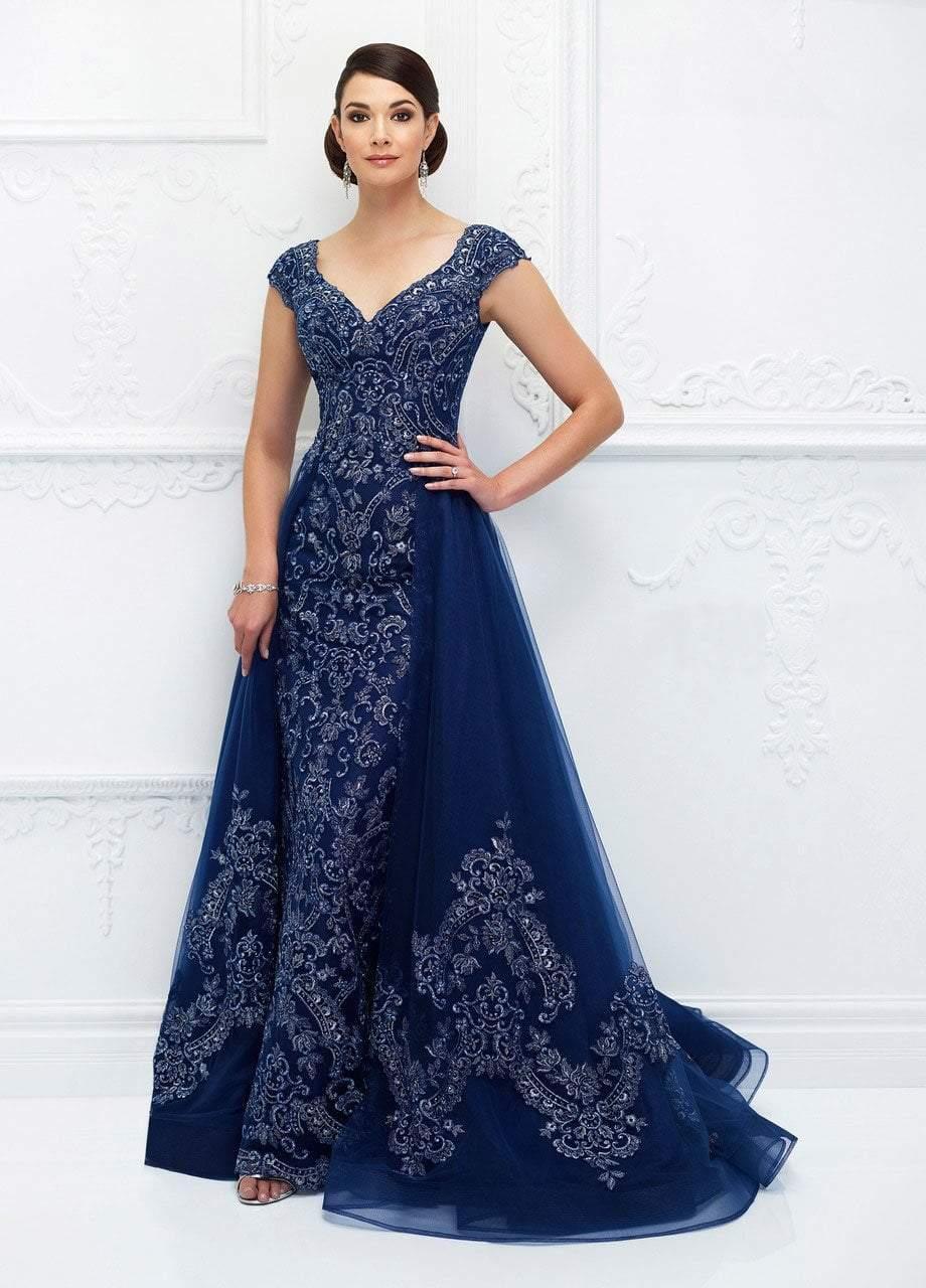 Ivonne D for Mon Cheri - 118D05 Beaded V-neck Dress With Overskirt