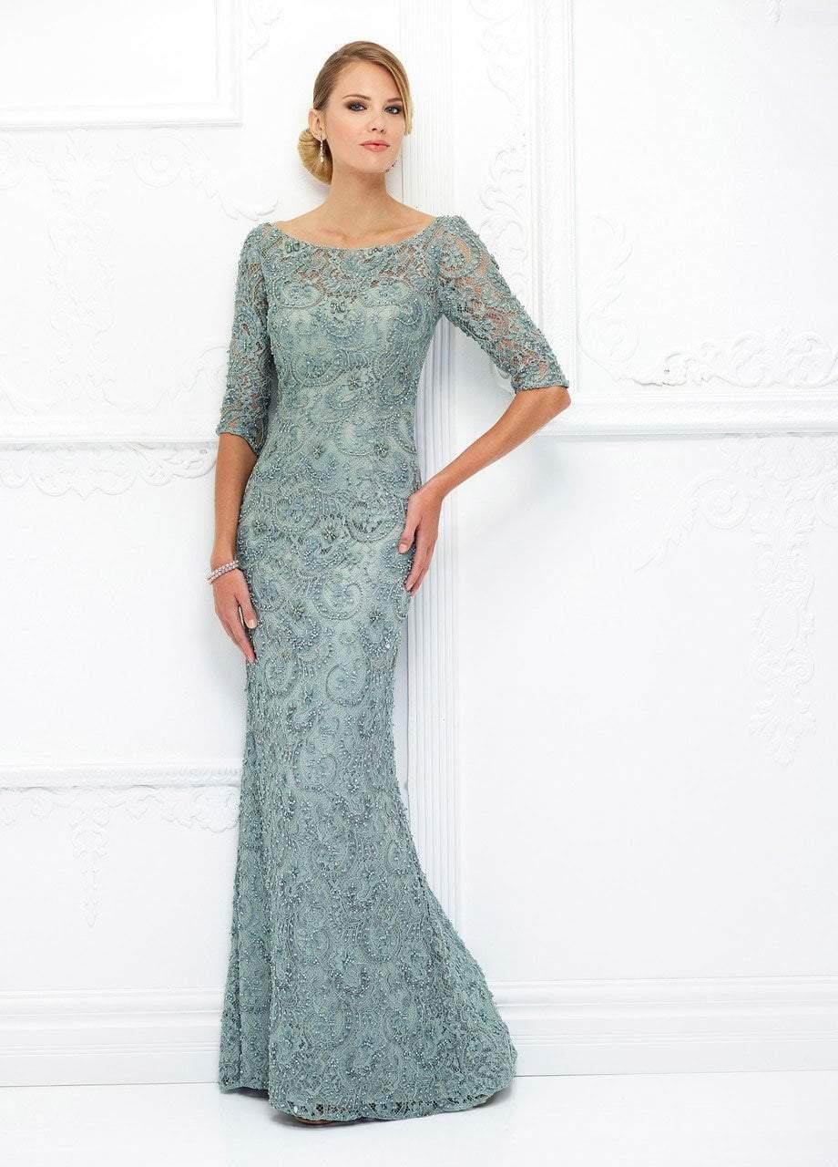 Ivonne D for Mon Cheri - 118D06 Beaded Lace Illusion Bateau Tulle Gown