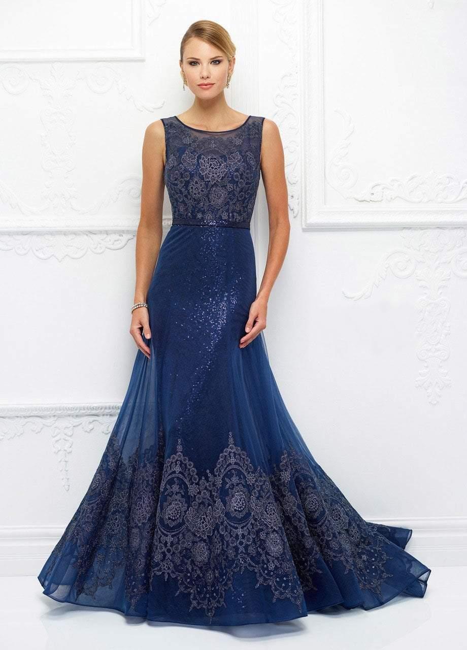 Ivonne D for Mon Cheri - 118D14 Two Piece Sequined Lace Dress