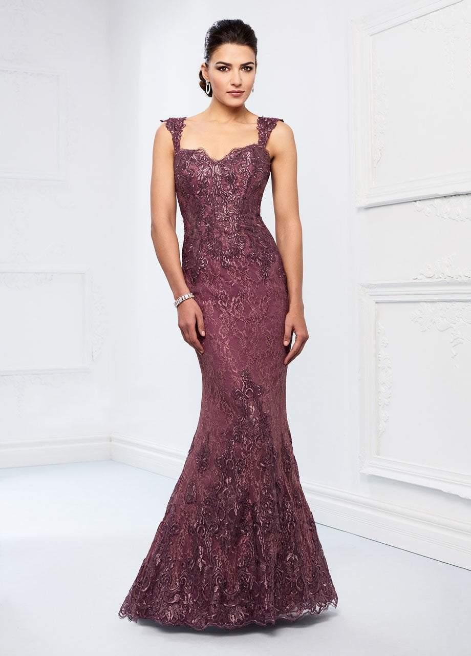 Ivonne D for Mon Cheri - 218D26 Metallic Lace Sweetheart Trumpet Gown