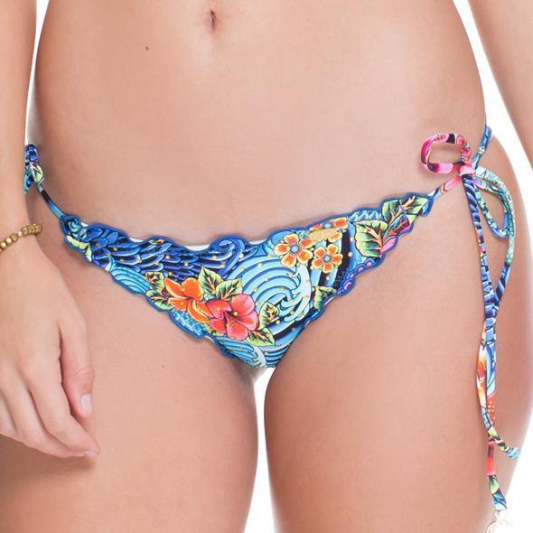 Luli Fama - Crystalized Wavey Ruched Back Brazilian TieSide In Multicolor (L51502)